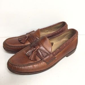 Footjoy Brown Leather Loafers Tassel 10.5 D Shoes